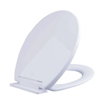 Soft Closing Oval Toilet Seat in White